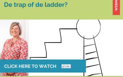 Hoe ga jij naar je doel toe? Neem je de trap of de ladder?