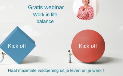 Volg deze 5-delige gratis reeks webinars om te komen tot een betere work-life balans!